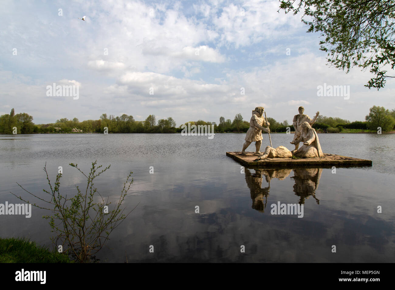 Watered Country Park in Leicestershire, England,  a network of lakes woodlands and nature reserves created from 340 acres of gravel workings. - Stock Image