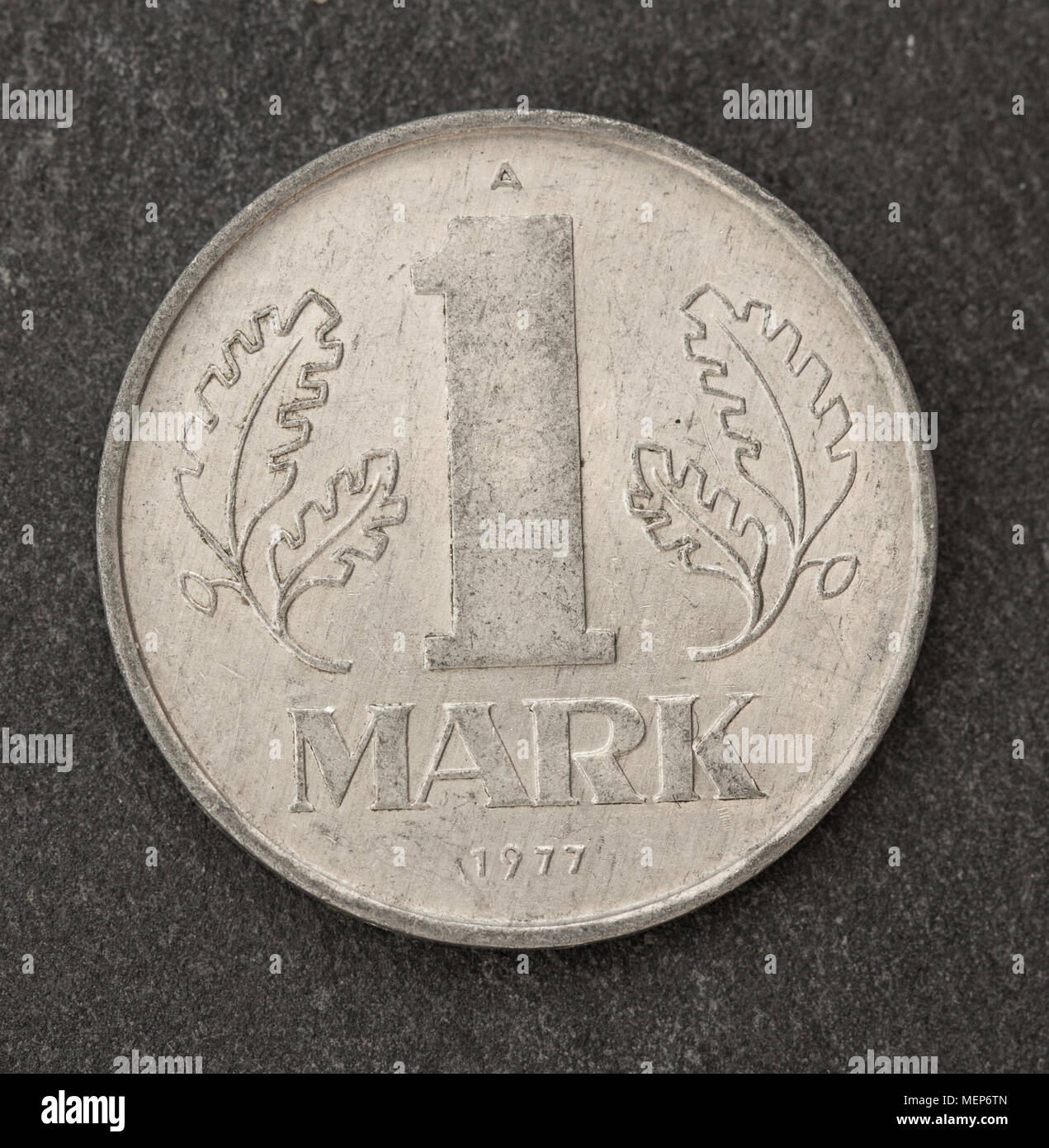 old germany mark coin - Stock Image