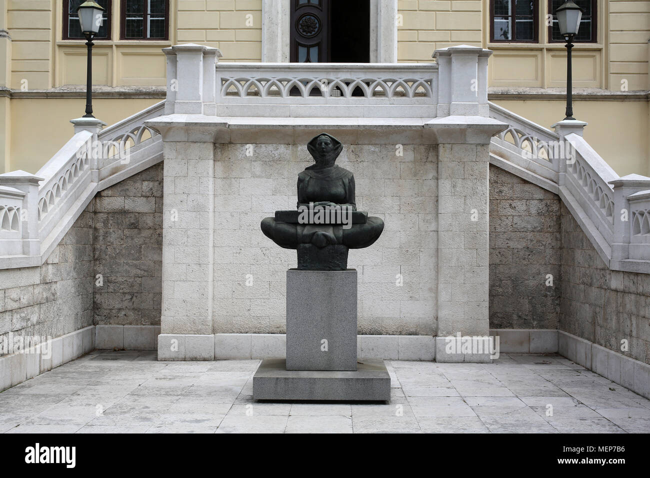 History of the Croats, sculpture by Ivan Mestrovic, located in front Zagreb university building, Croatia. - Stock Image
