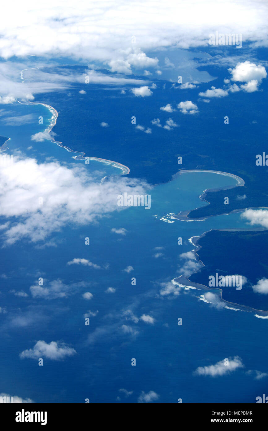 Overflying the Indonesian Island of Borneo - Stock Image