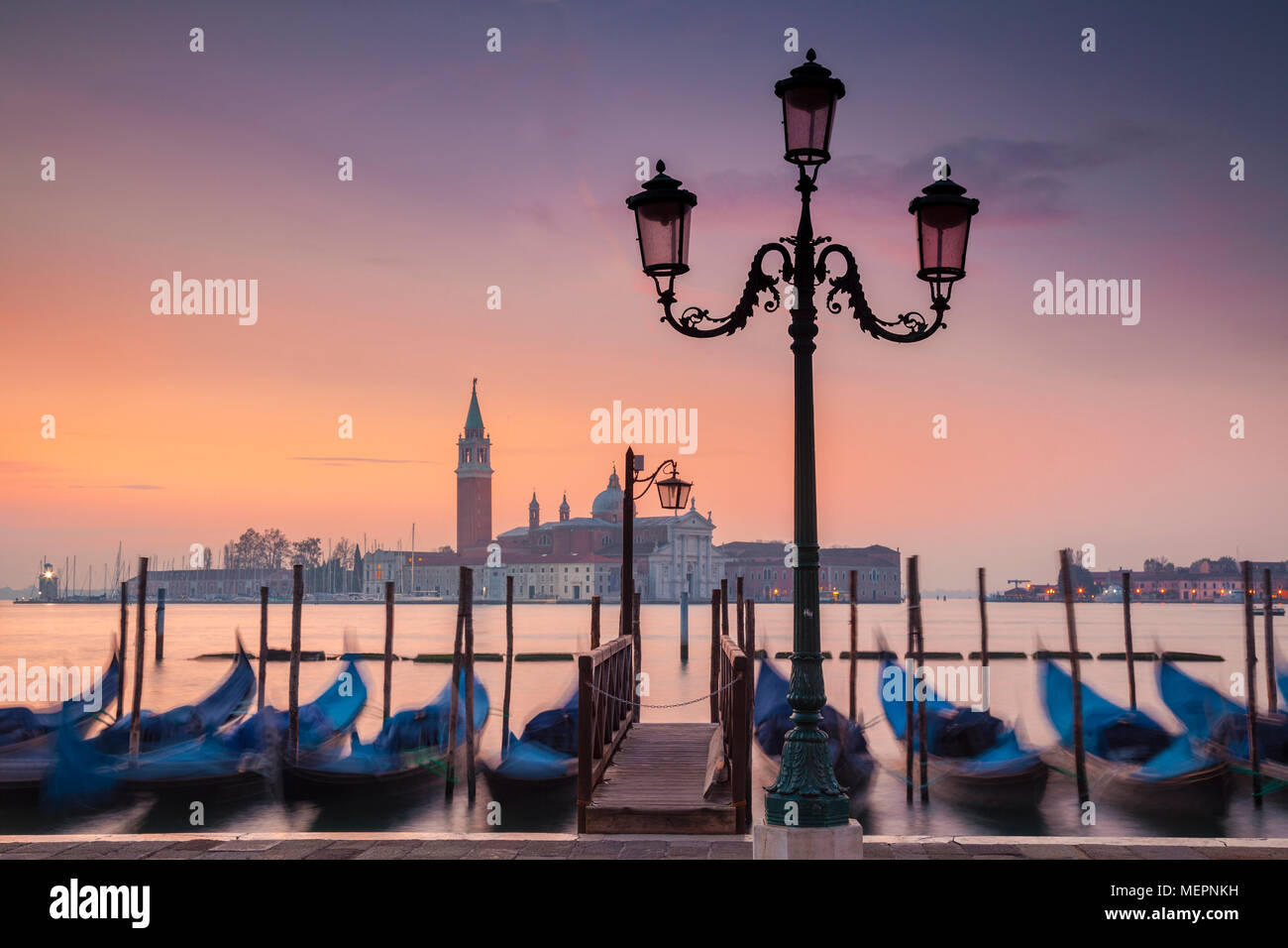 Misty morning over Venice, Italy - Stock Image