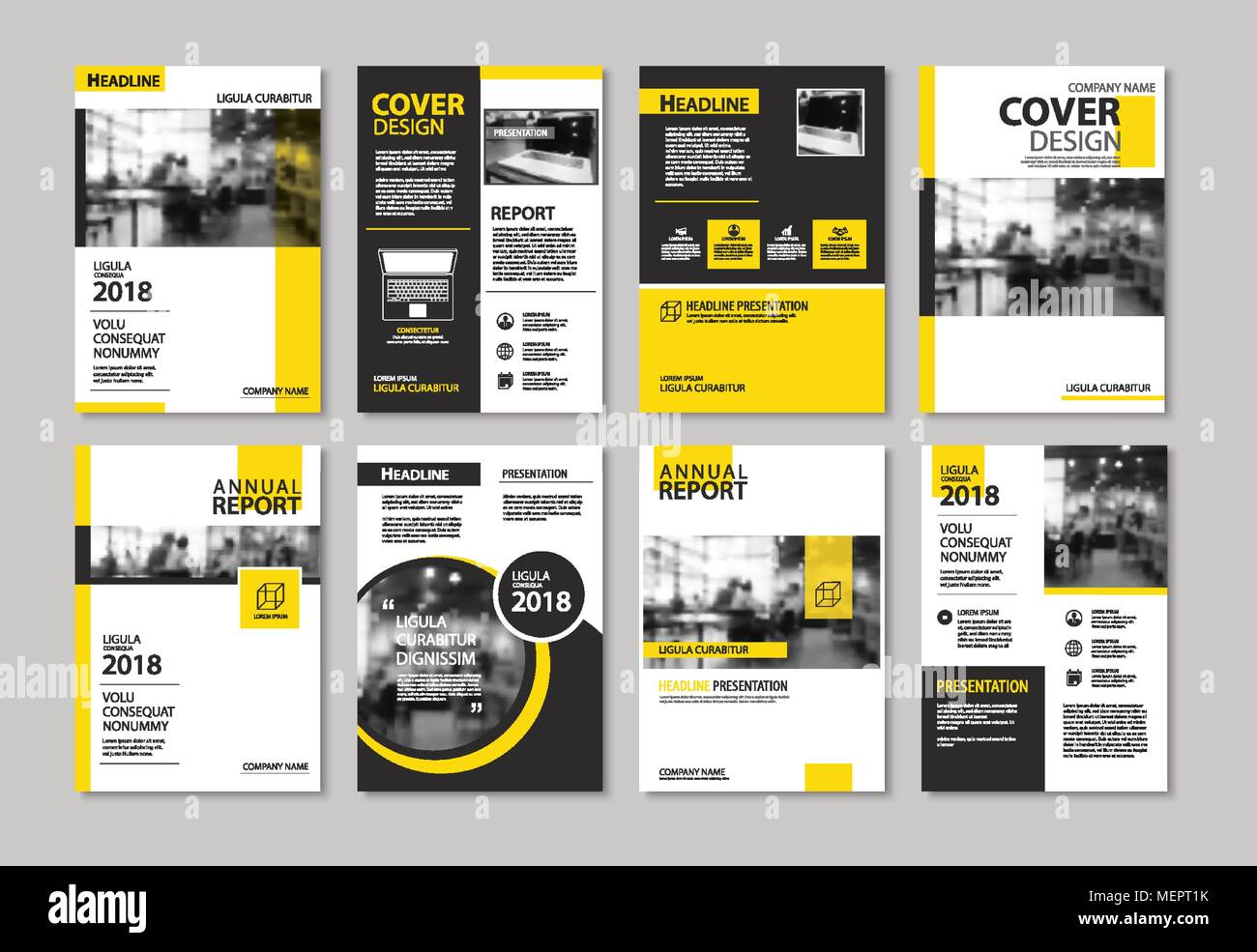 Set of yellow cover and layout brochure flyer poster annual set of yellow cover and layout brochure flyer poster annual report design templates use for business book magazine presentation portfolio cor accmission Choice Image