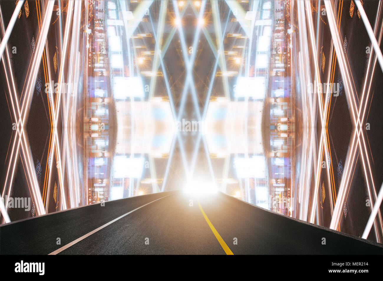 Highway in the abtract space - Stock Image