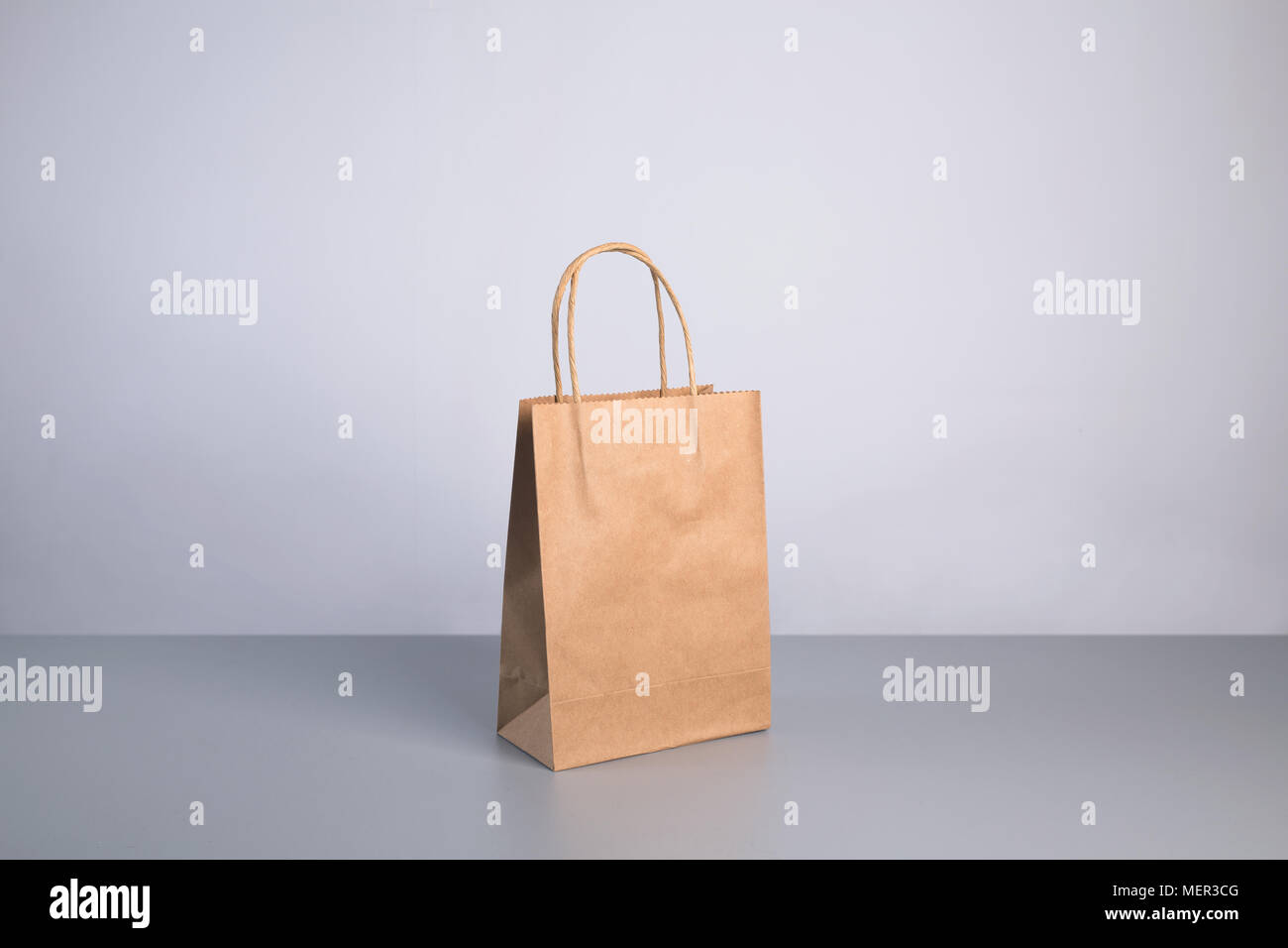 new recyclable kraft paper bag - Stock Image