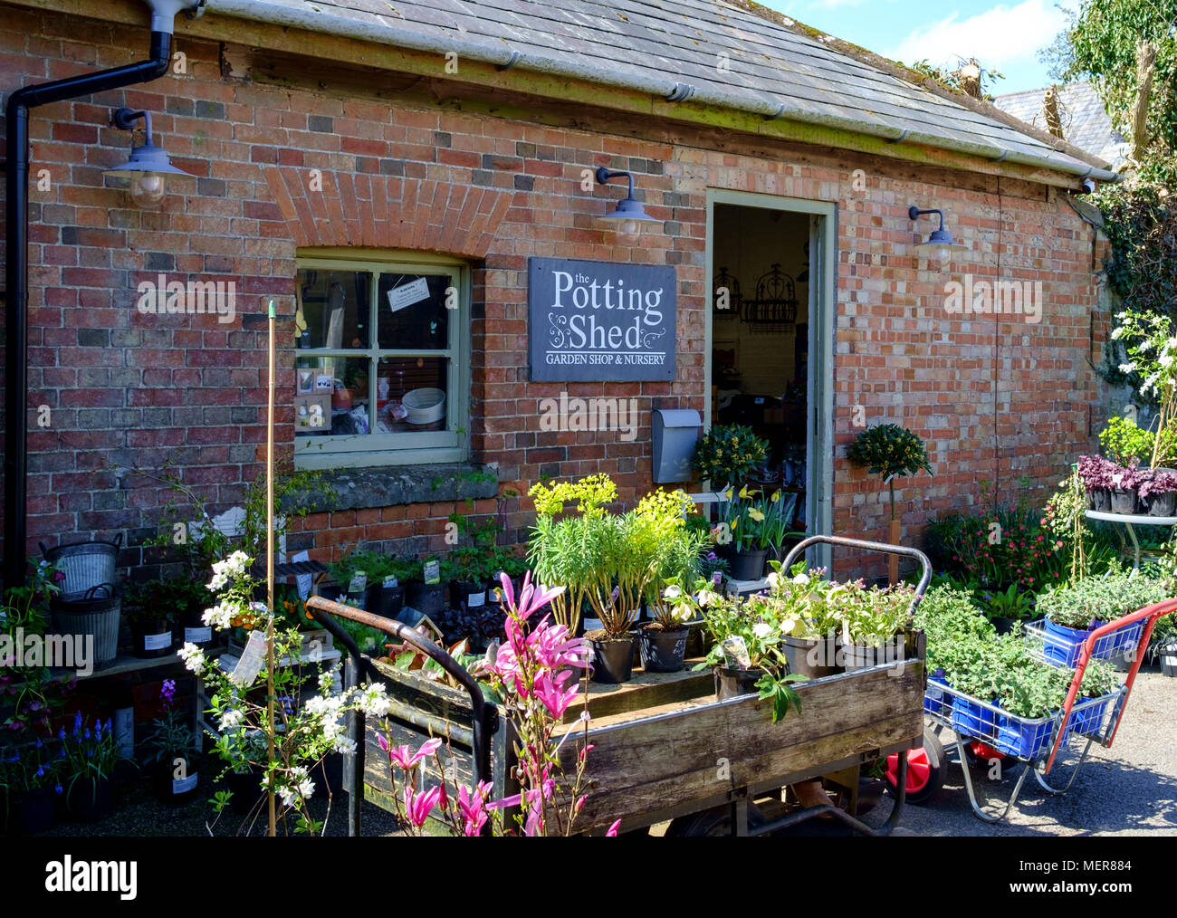 Shaftesbury is a small town in dorset England UK the Potting shed - Stock Image