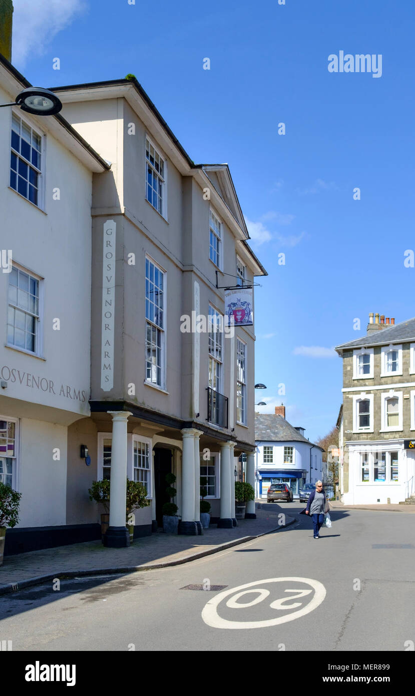 Shaftesbury is a small town in dorset England UK - Stock Image