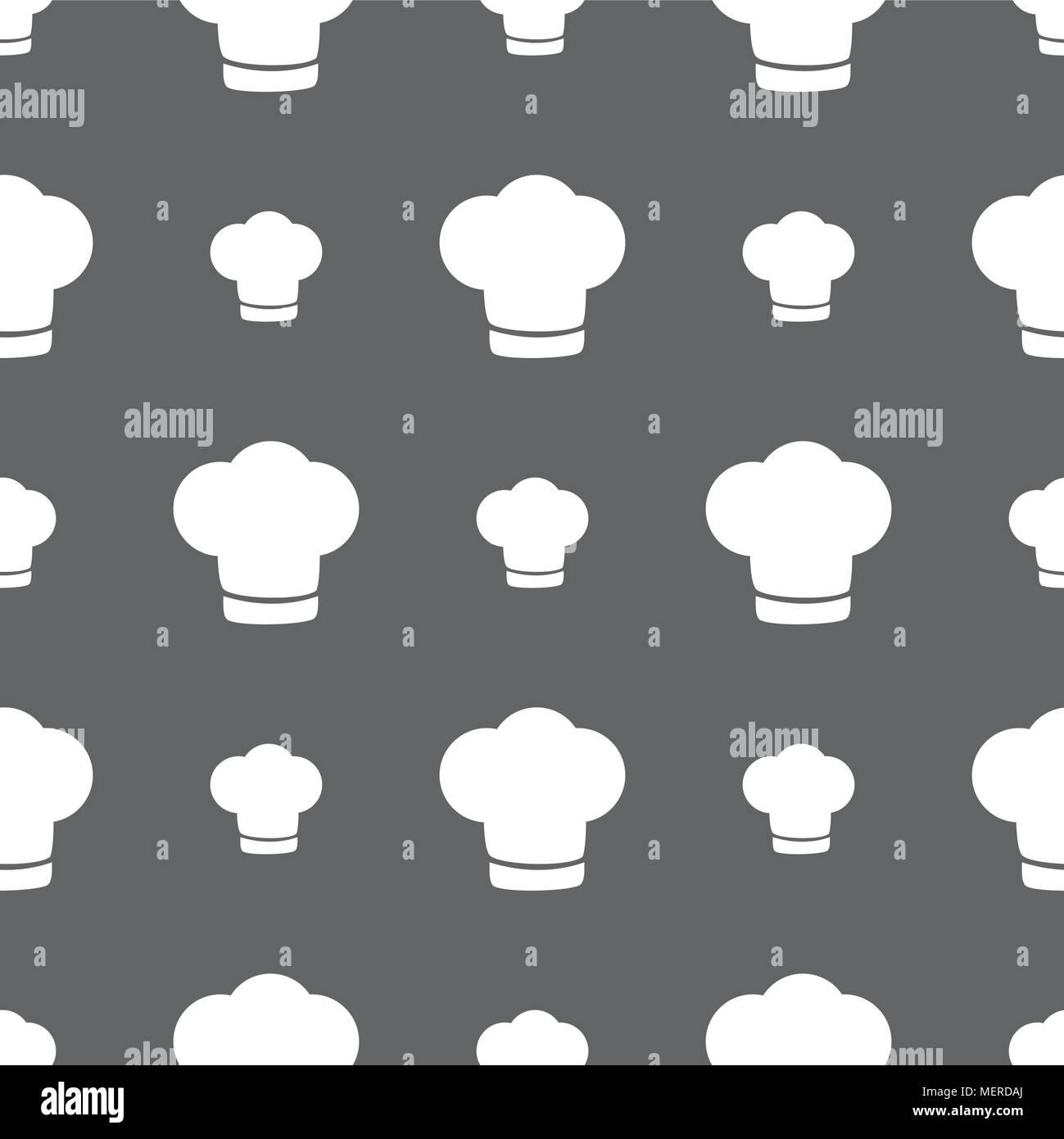 54f21d42fda Chef hat sign icon. Cooking symbol. Cooks hat. Seamless pattern on a gray  background. Vector illustration