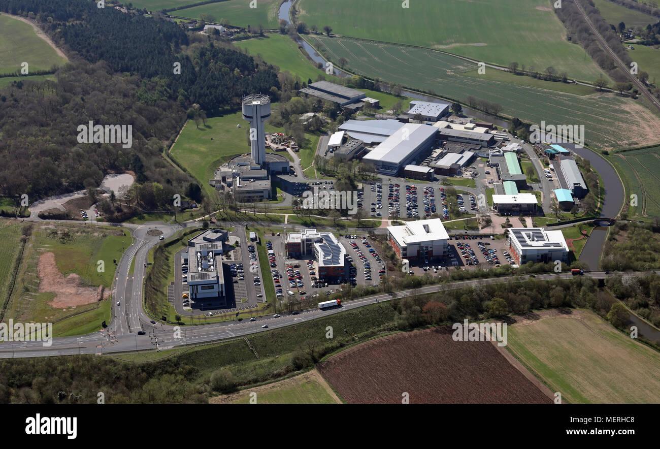 aerial view of STFC Daresbury Laboratory, Warrington, Cheshire Stock Photo