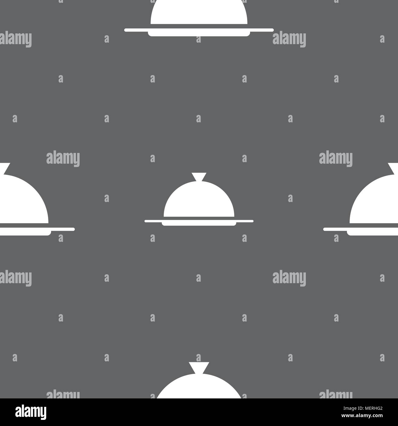 Food Platter Serving Sign Icon Table Setting In Restaurant