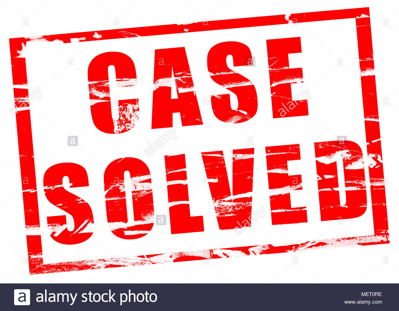 The case is solved