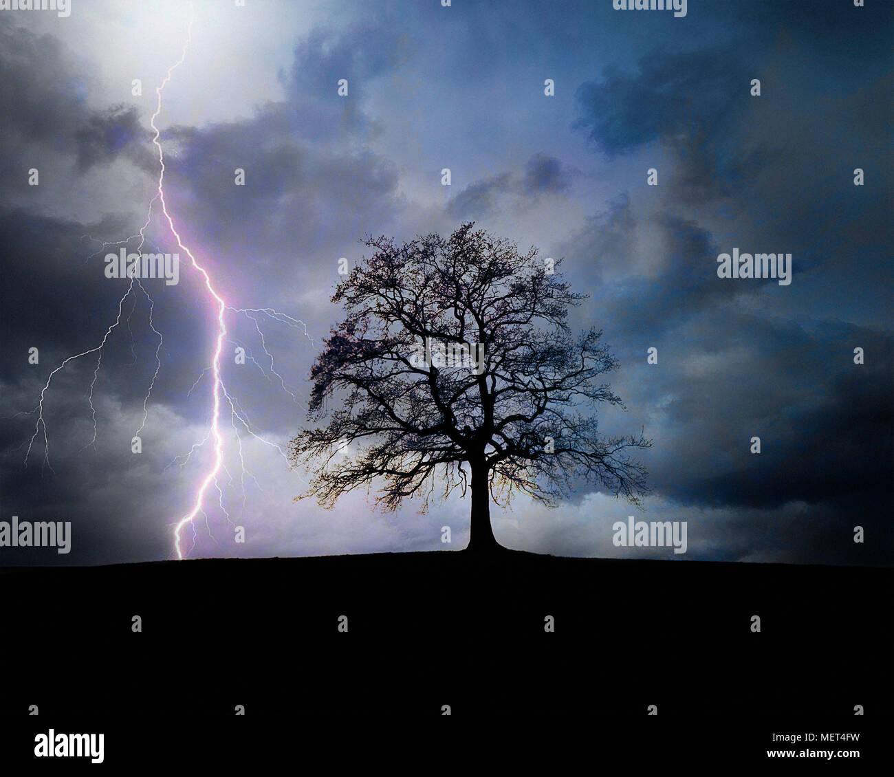 DE - BAVARIA: Thunder & Lightning - Stock Image