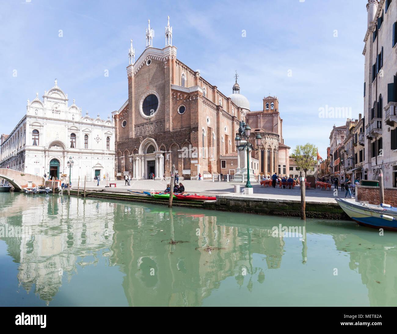 Scuola Grande di San Marco, Campo dei Santi Giovanni e Paolo, Castello, Venice, Veneto, Italy - Stock Image
