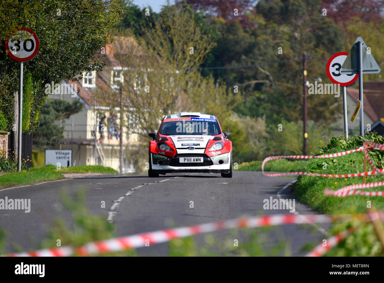 Michael O\'Brien driver Mark Glennerster co driver racing Ford Fiesta ...