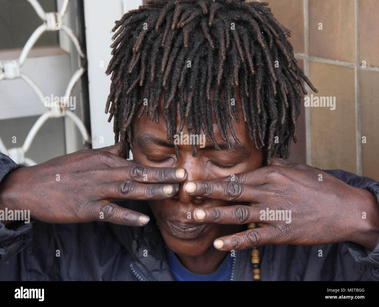 Daniel Mwinda is one of the drug addicts who live in the