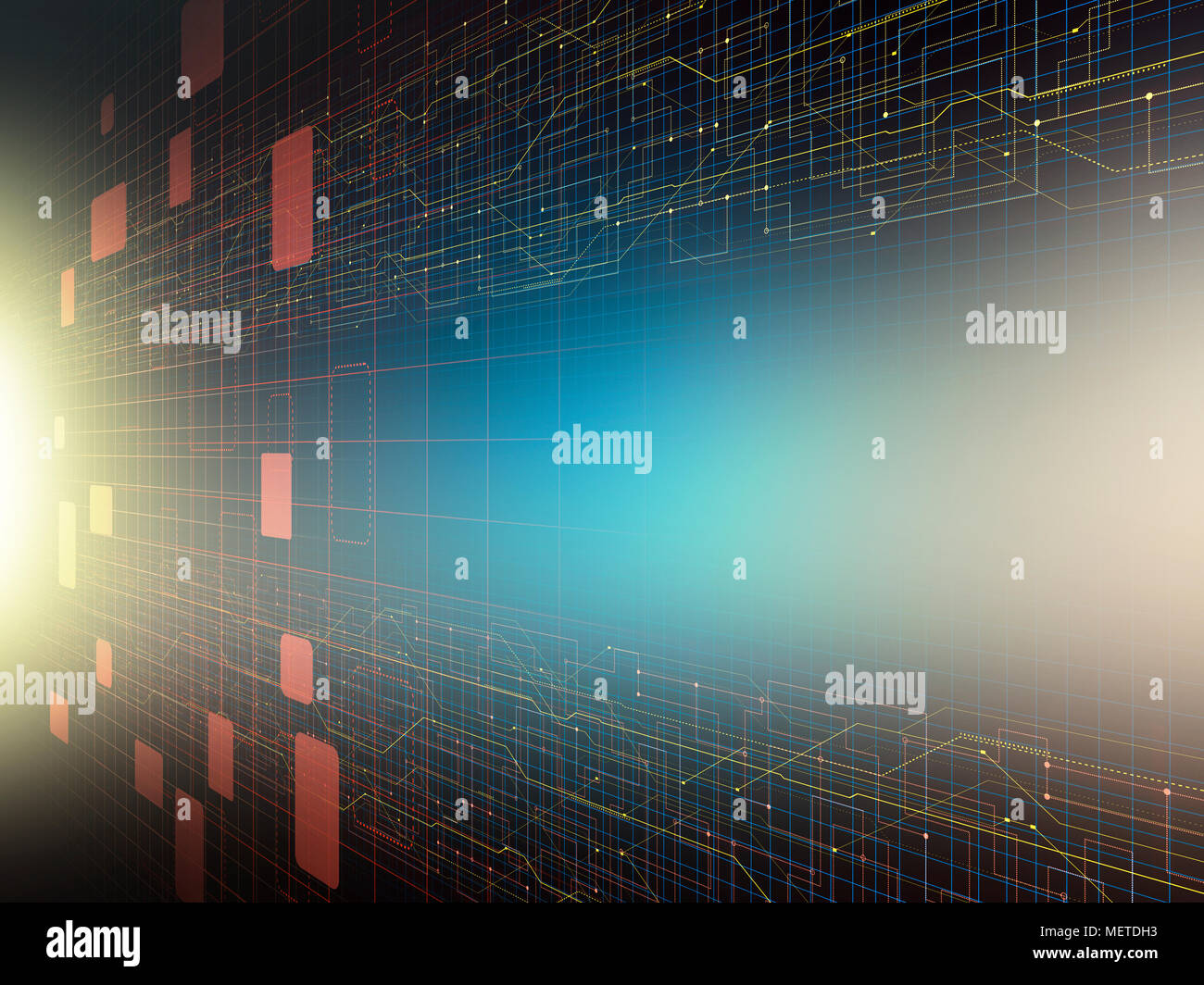 Circuit Diagram Without Centre Stock Photo: 181246383 - Alamy