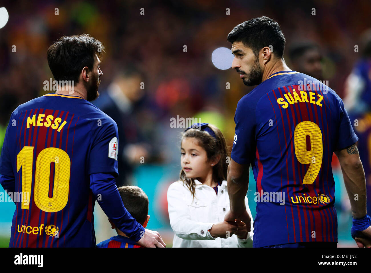 b7397a8dbfa Lionel Messi Luis Suarez Barcelona Stock Photos   Lionel Messi Luis ...