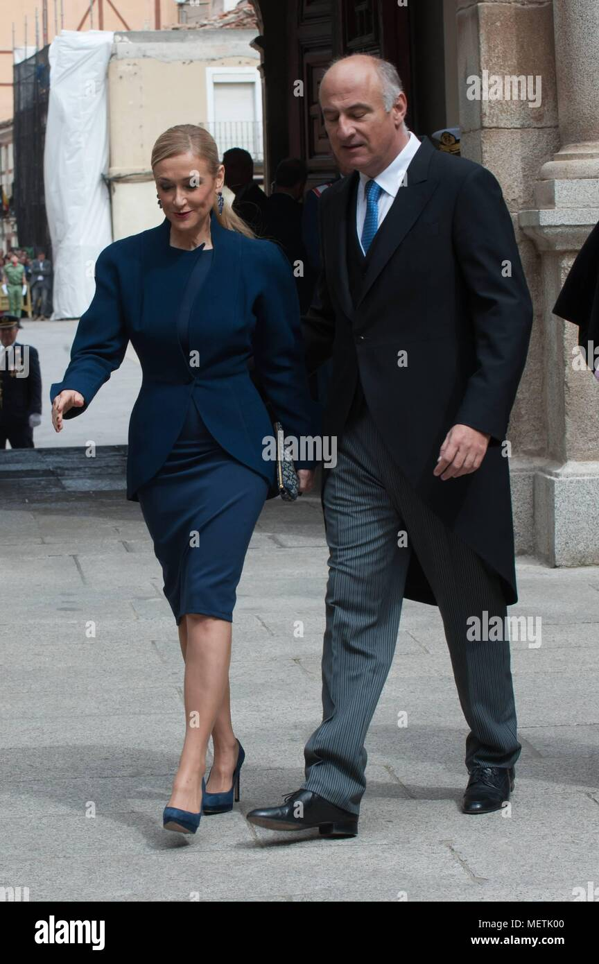 Entrega  Premio Literatura  Lengua Castellana  Miguel de Cervantes  2017    23/04/2018  The kings of Spain, Felipe VI and Letizia, attend the delivery of Cervantes Award to the writer of Nicaragua Sergio Ramirez, in University of Alcala de Henares    EP888/cordon press - Stock Image