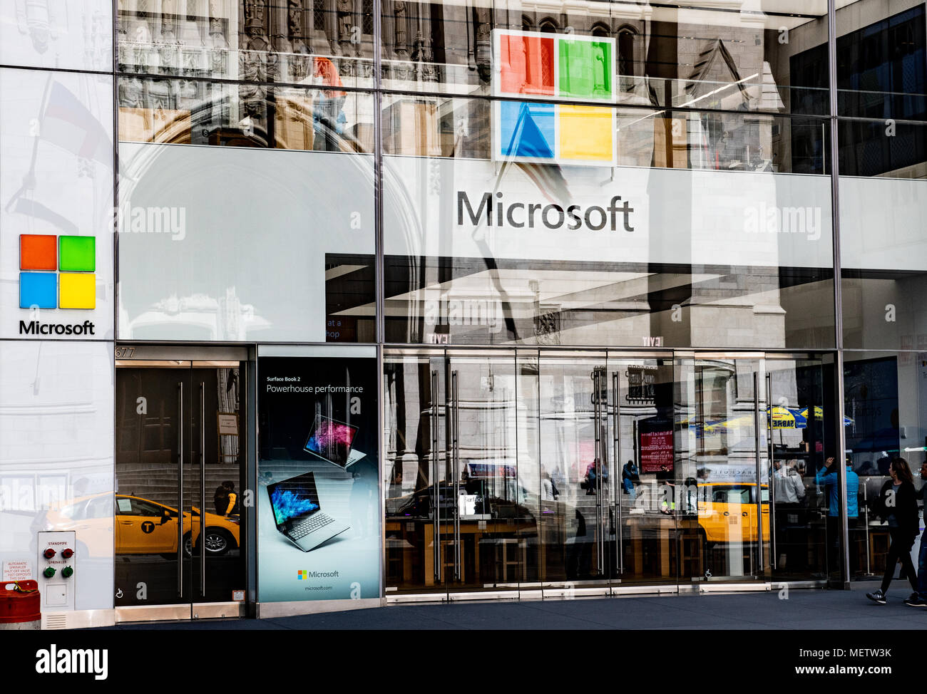 Microsoft store on Fifth Avenue in New York City. Stock Photo