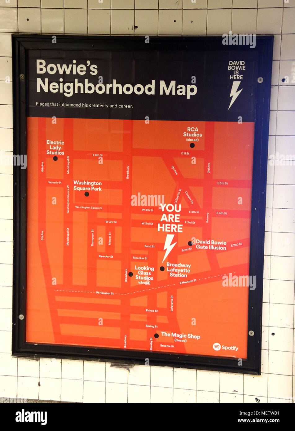Nyc Neighborhood With Subway Map.April 23 2018 New York City New York U S A View Of Bowie S