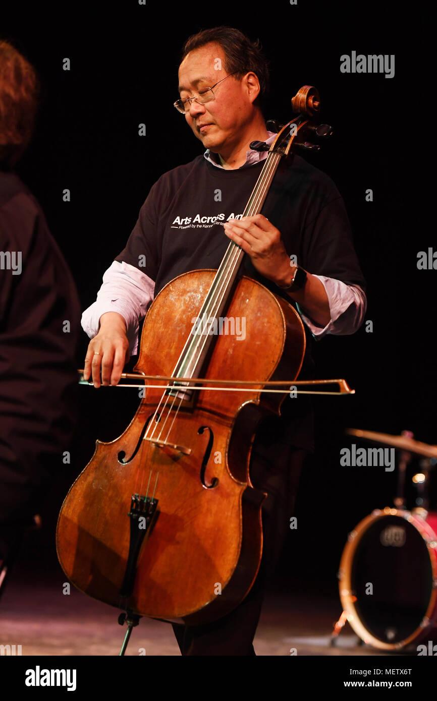 Fort Lauderdale FL, USA  22nd Apr, 2018  Yo-Yo Ma performs during a