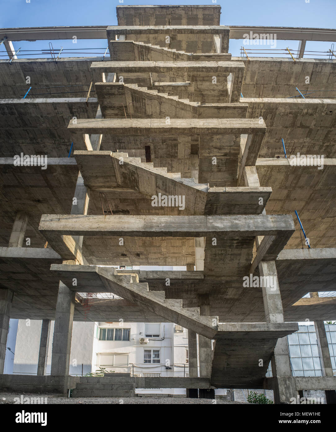 Exterior Staircase Structure Of A New Apartment Building