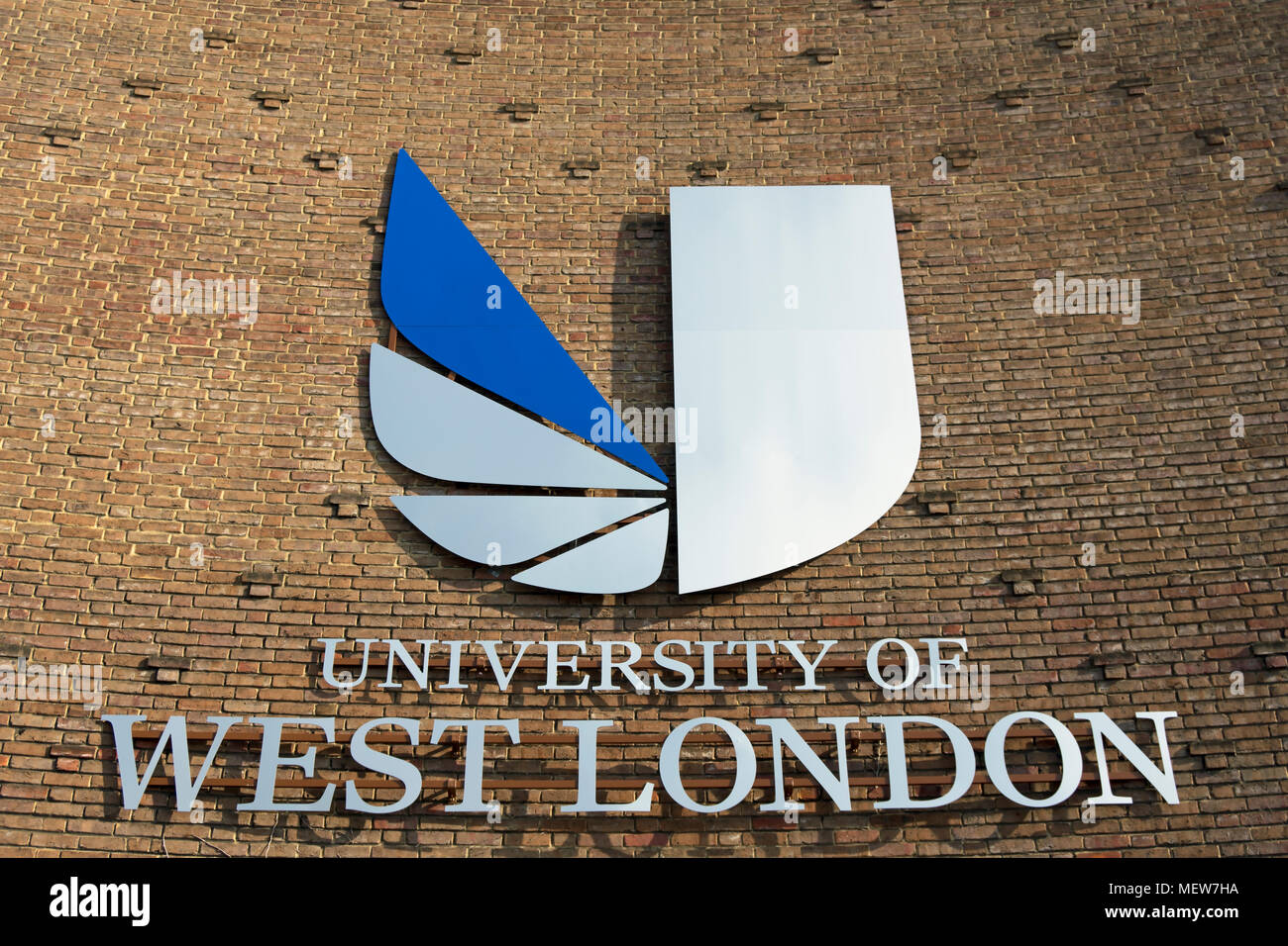 Logo And Title Of The University Of West London On A Wall Of The Campus In Ealing London England Stock Photo Alamy