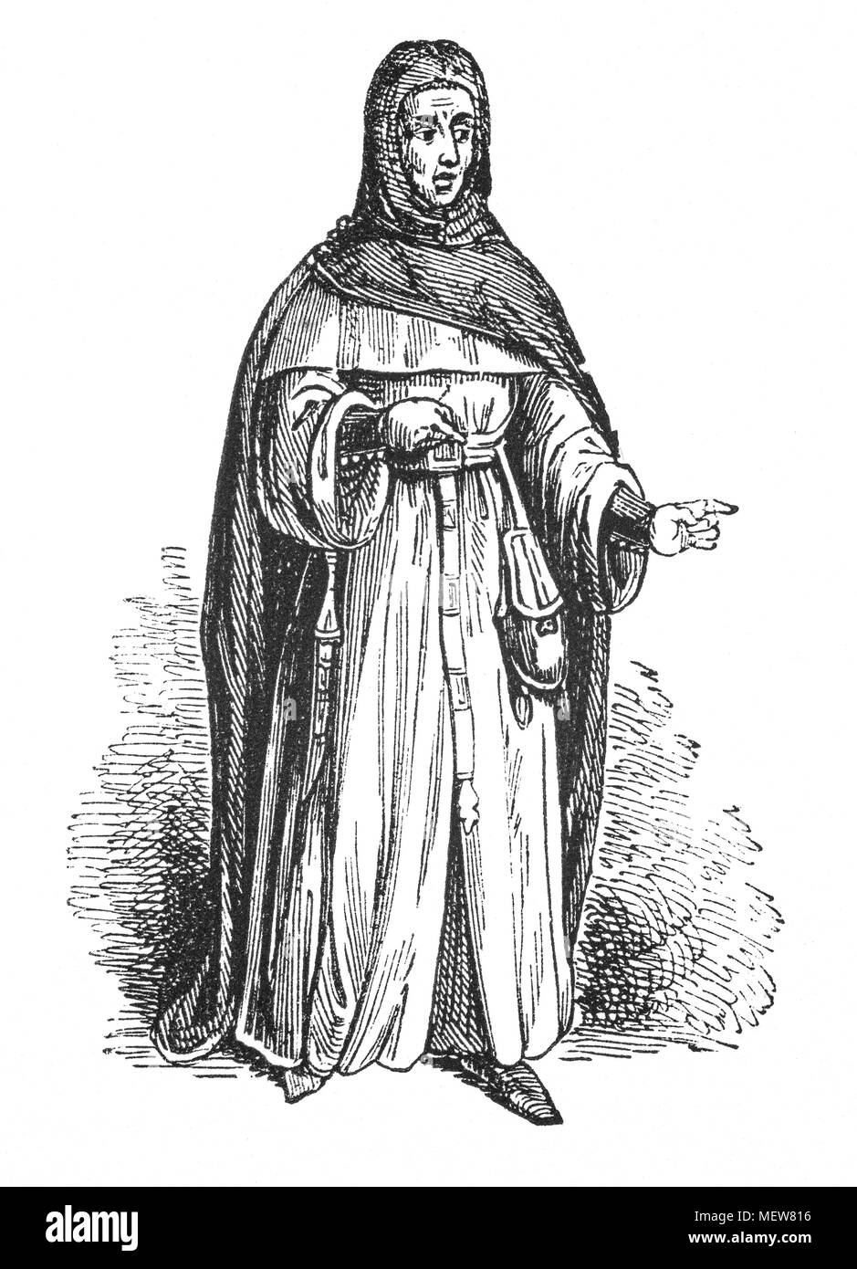 Sir William Gascoigne (1350 – 1419) was Chief Justice of England during the reign of King Henry IV. He achieved histotic fame through the popular tale of his committing the Prince of Wales (the future Henry V) to prison. It is said that the judge had directed the punishment of one of the prince's riotous companions, and the prince, who was present and enraged at the sentence, struck or grossly insulted the judge. Gascoigne immediately committed him to prison, and gave the prince a dressing-down that caused him to acknowledge the justice of the sentence. The staory has never been authenticated, - Stock Image