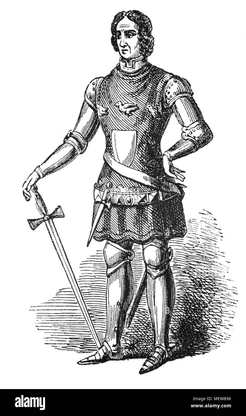 Sir Thomas Erpingham KG (1355–1428) was an English knight who became famous as the commander of King Henry V's longbow wielding archers at the Battle of Agincourt. His lengthy and loyal service to John of Gaunt, Henry IV and Henry V, which contributed significantly to the establishment of the House of Lancaster upon the English throne, that is his true legacy. - Stock Image