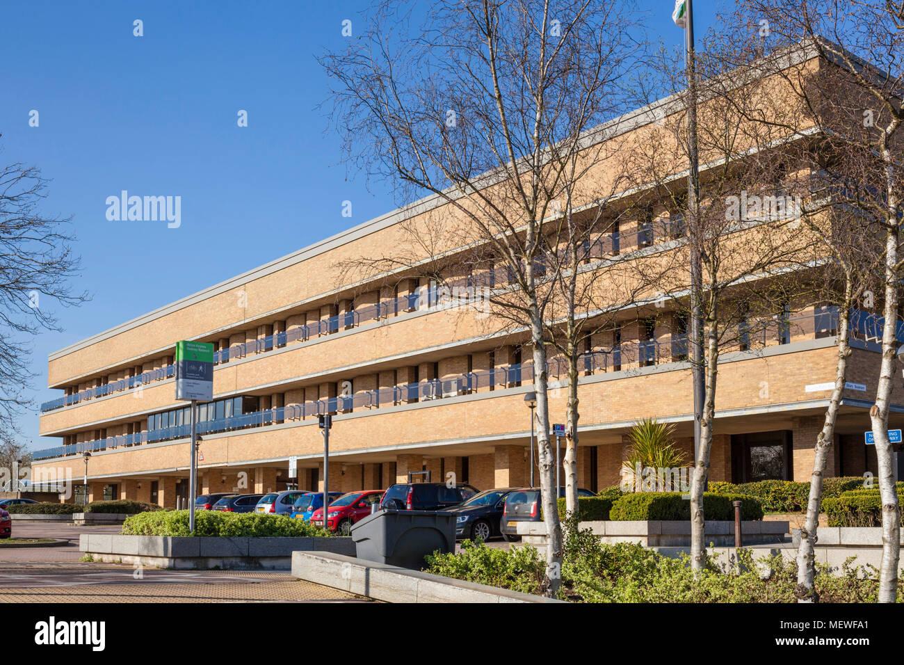 Milton Keynes England milton keynes council offices central milton keynes buckinghamshire england gb uk europe - Stock Image