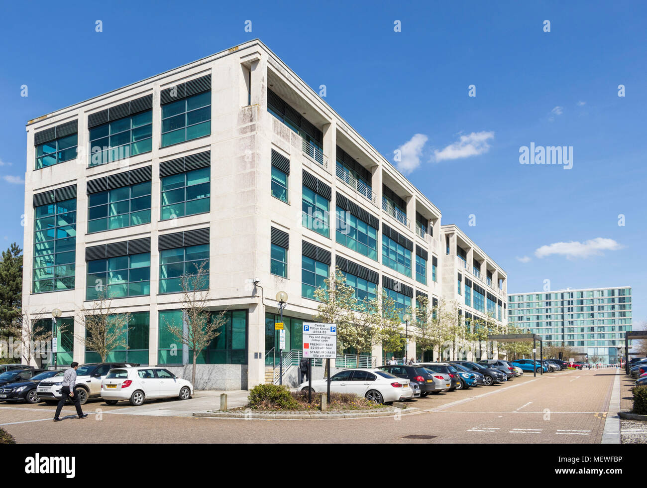 Milton Keynes England office buildings central milton keynes gb uk europe - Stock Image