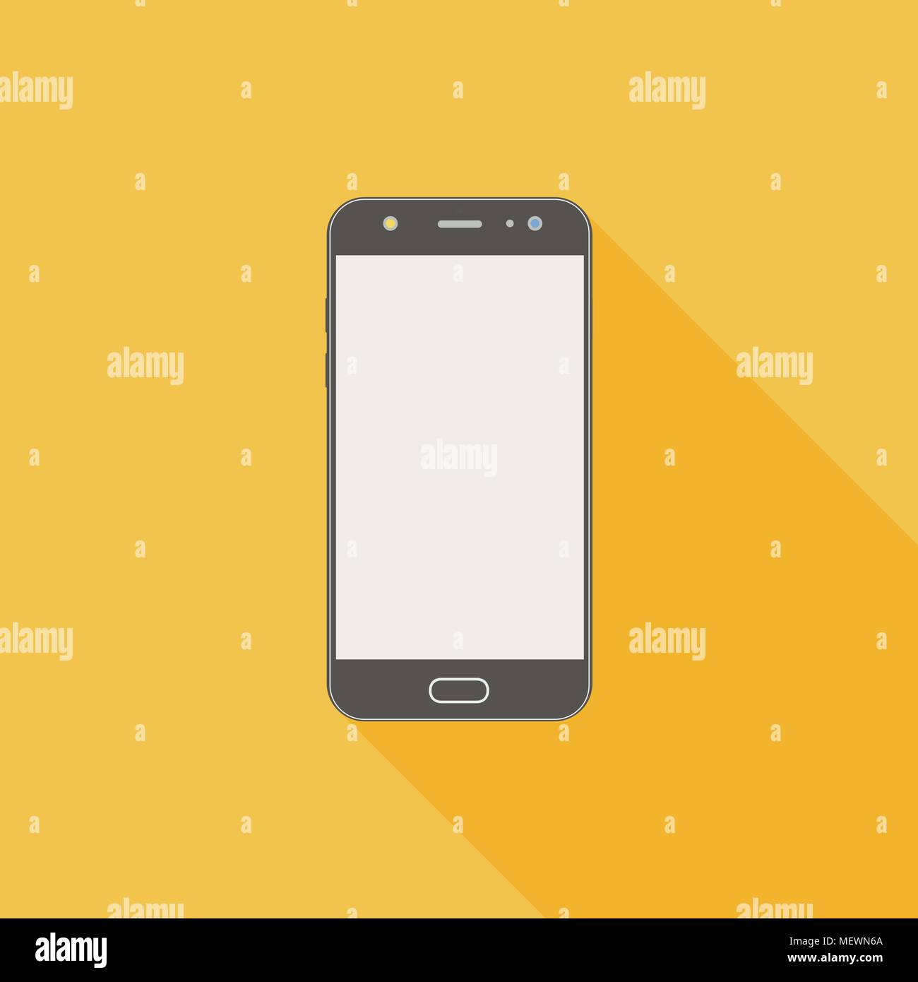 Smartphone Flat Icon With Blank Display Sign Of A Cellphone With