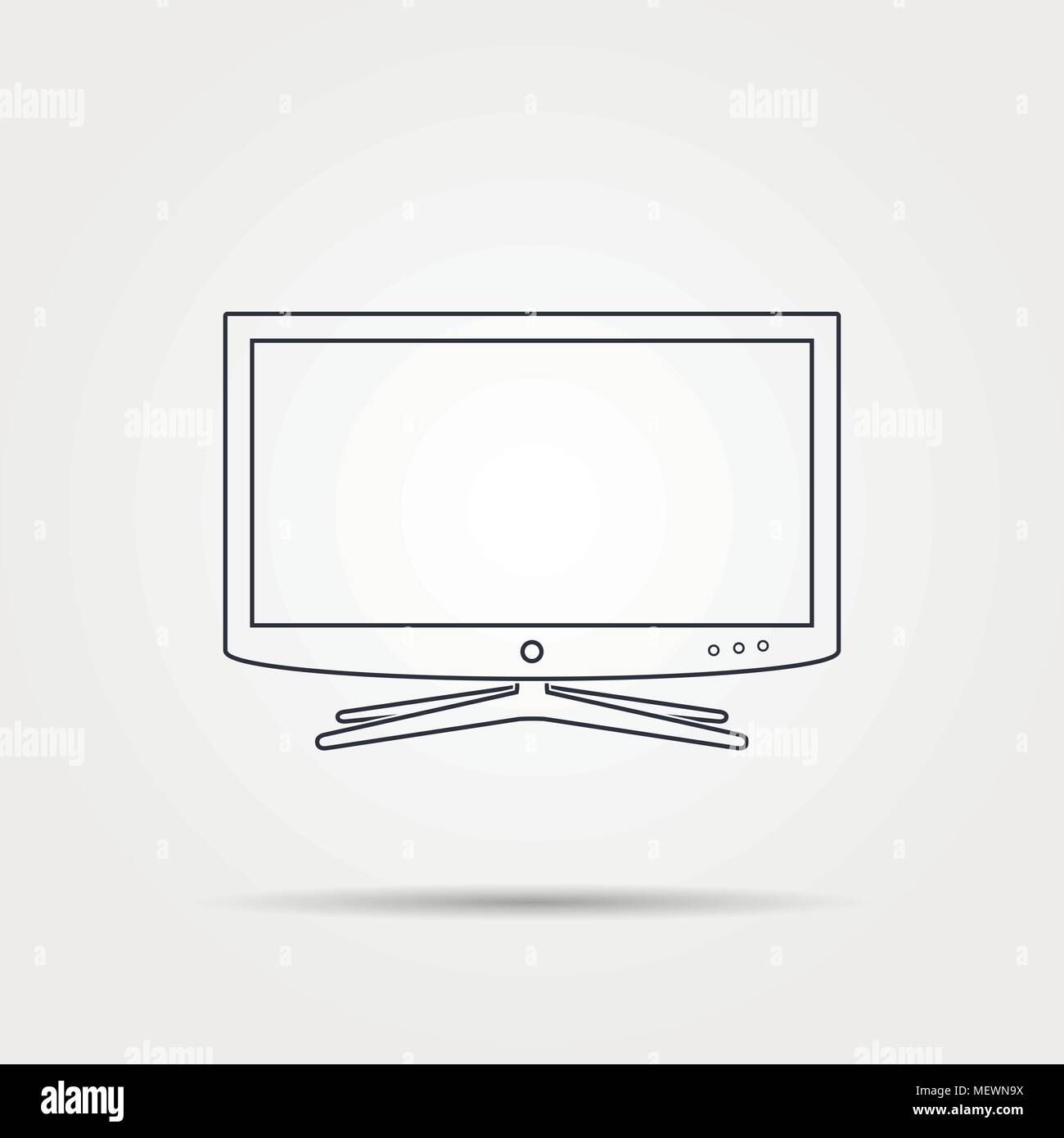 Smart Tv Diagram Drawings Reinvent Your Wiring Samsung Line Icon Linear Vector Illustration Stock Art Rh Alamy Com For