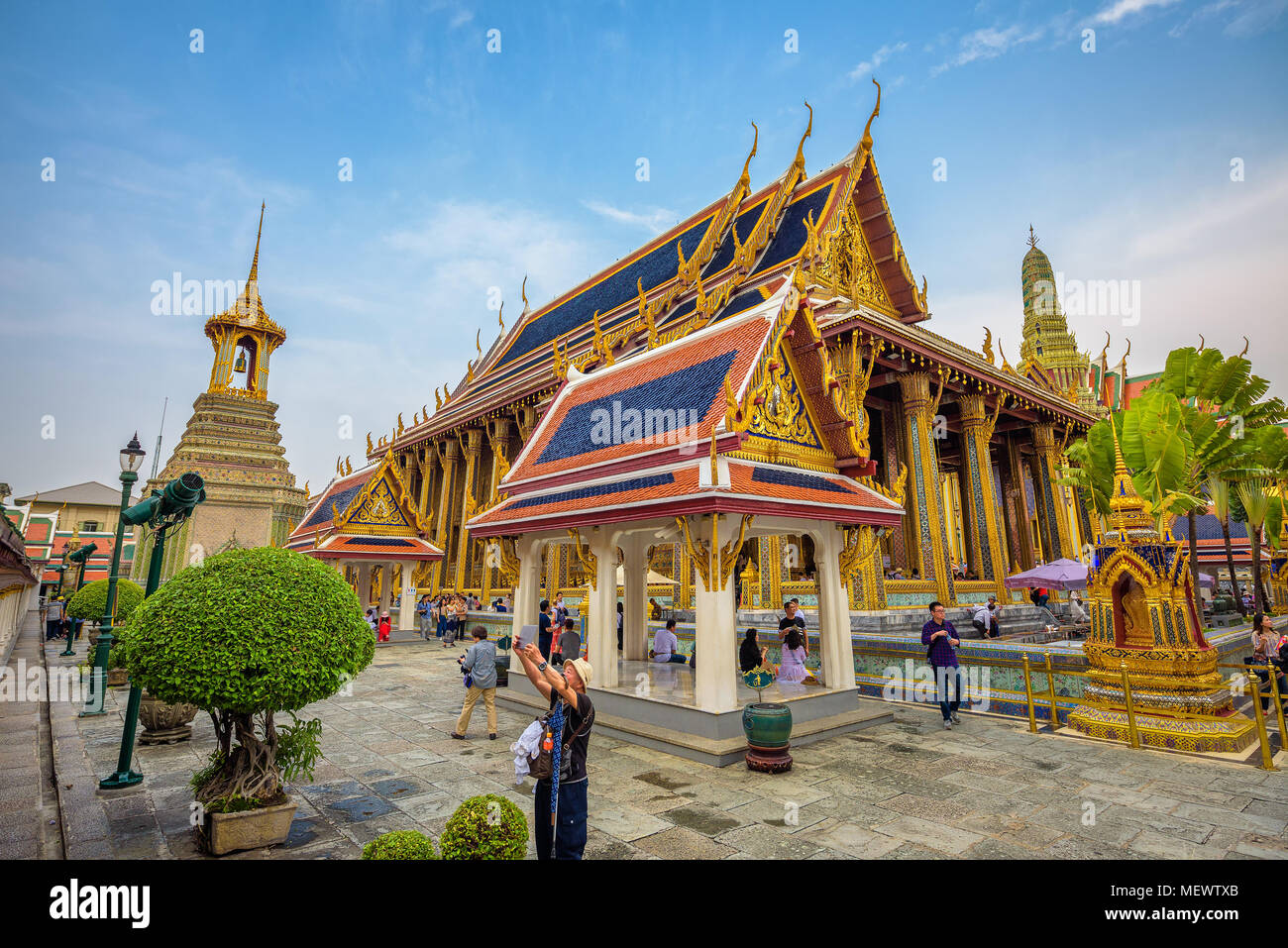 Grand palace in Bangkok, Thailand - Stock Image