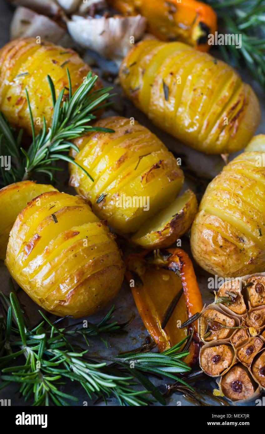 Potato Roast Closeup Stock Photo