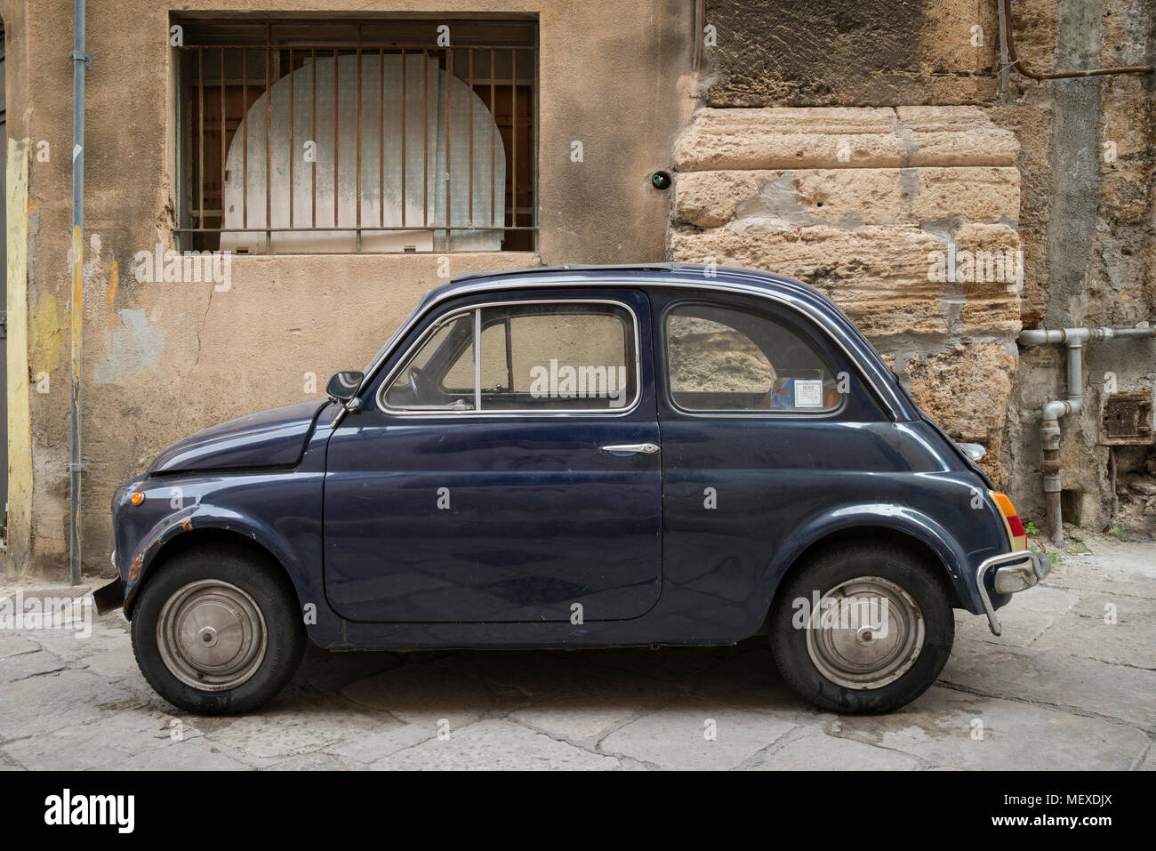download city view back car photo image white stock fiat of small street parked vintage