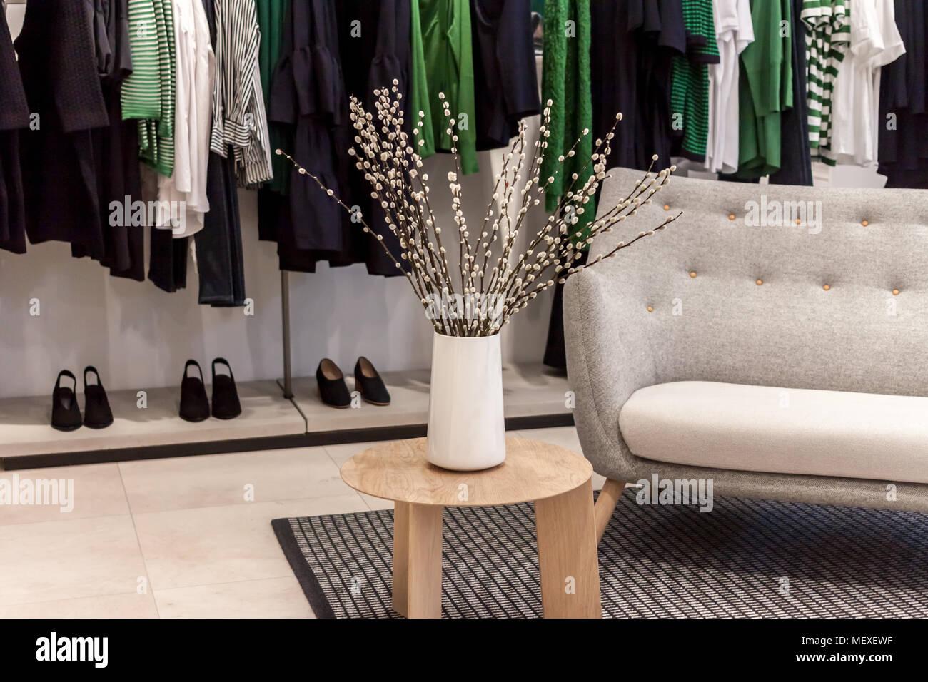 Shop Boutique Interior Decoration Vase With Flowers Stock Photo