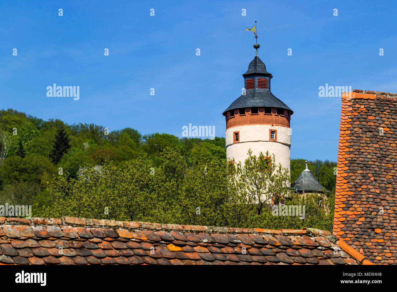 bergfried of Büdingen Castle, Büdingen, Hesse, Germany, Europe Stock Photo