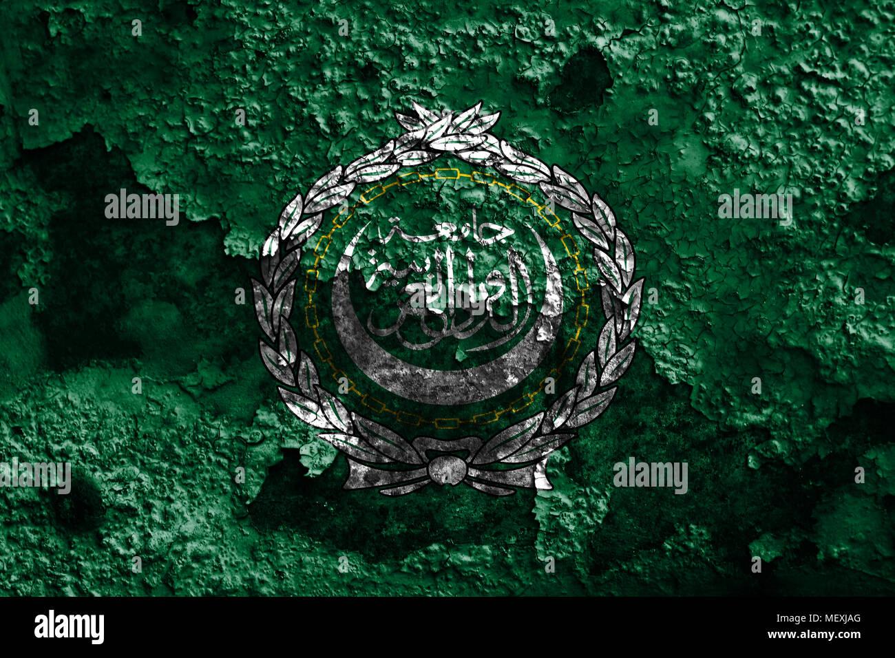 Arab League grunge flag, regional organization of Arab states - Stock Image