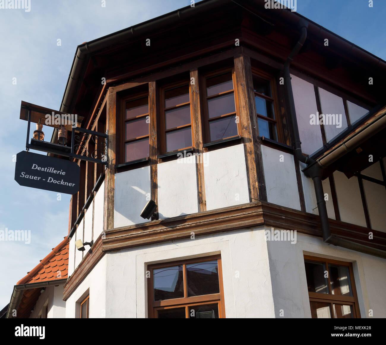 Distillery Sauer-Dockner in Weisenheim am Berg, Rheinland-Pfalz, Germany, Europe - Stock Image