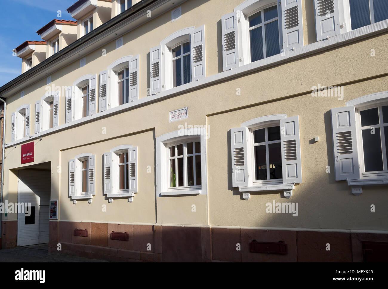 Hotel Rothfuss in Weisenheim am Berg, Rheinland-Pfalz, Germany, Europe - Stock Image