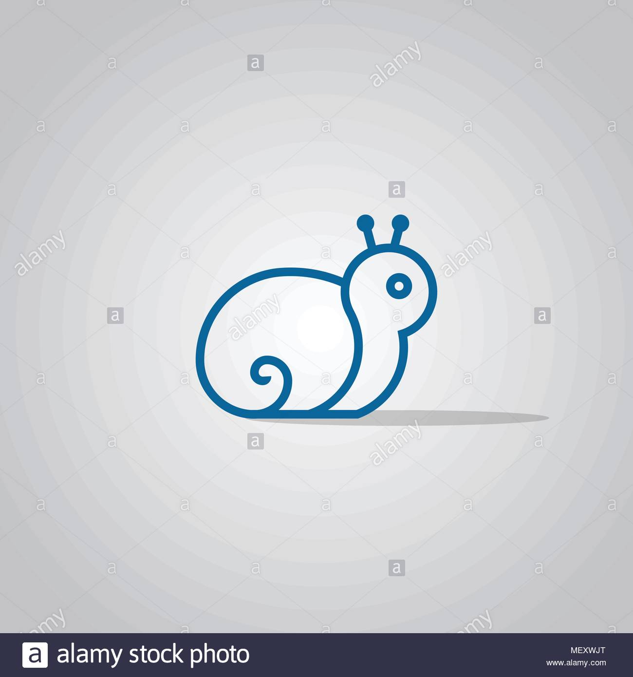 snail logo design line concept template vector icons stock vector