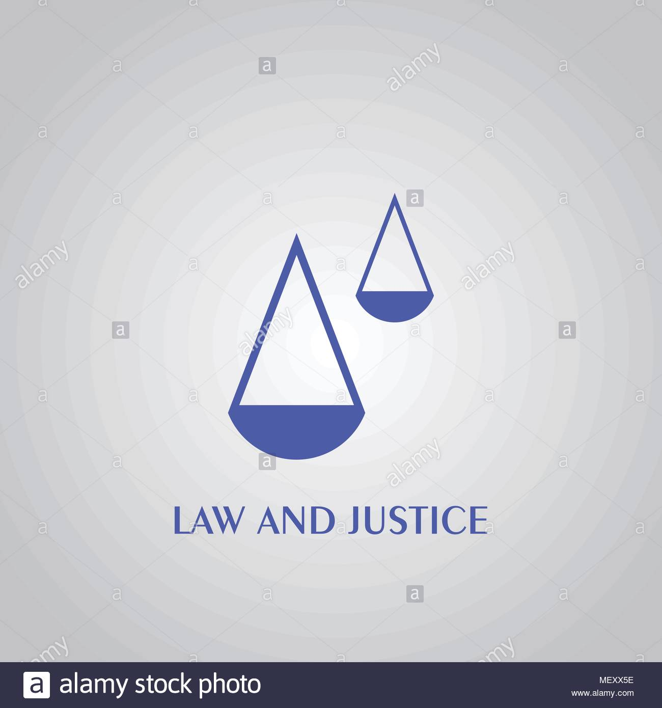 Law and justice logo, simple design, vector icons. - Stock Vector