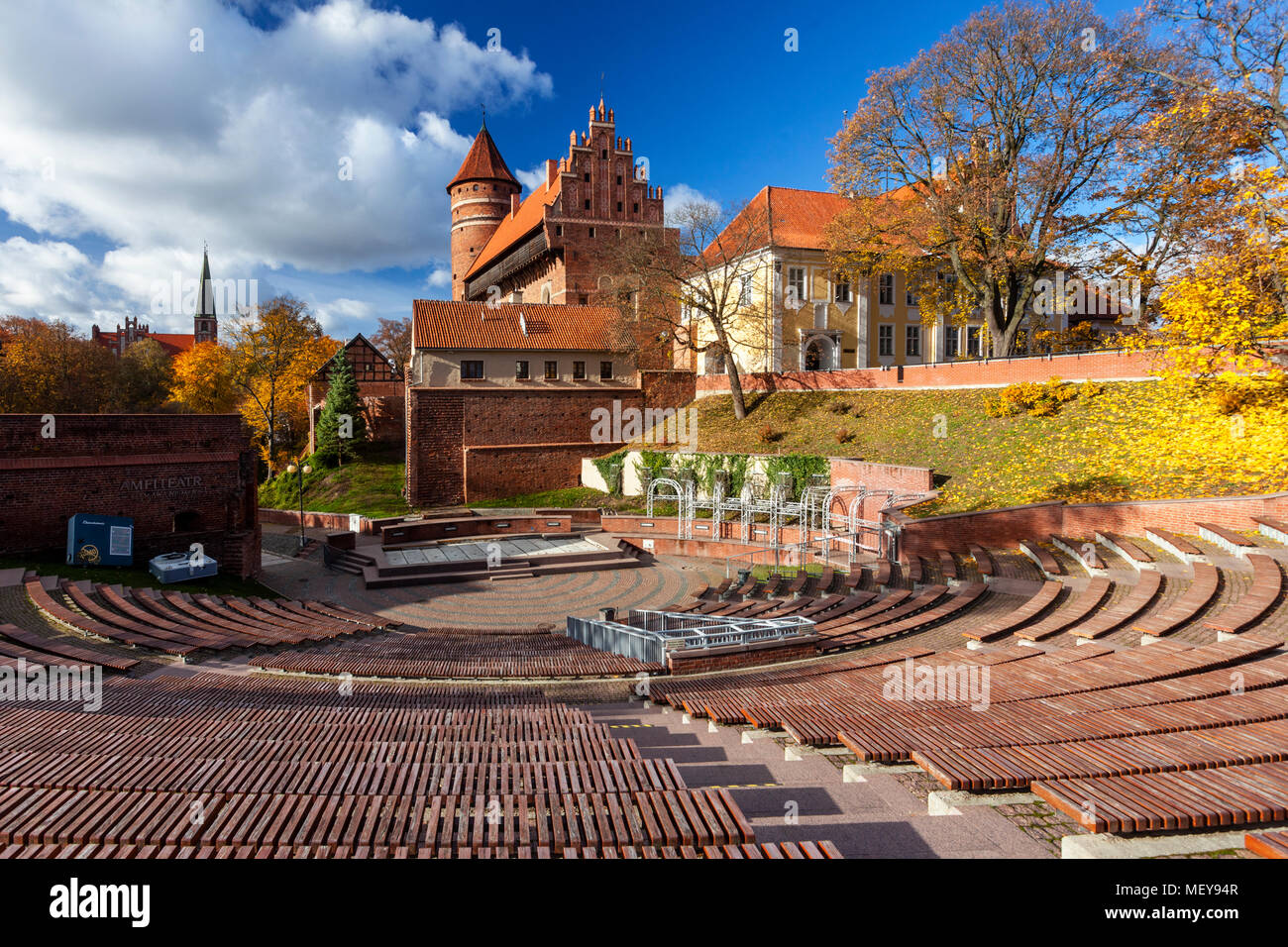 Olsztyn, a Gothic castle from the 14th century, Warmia and Mazury, Poland - Stock Image