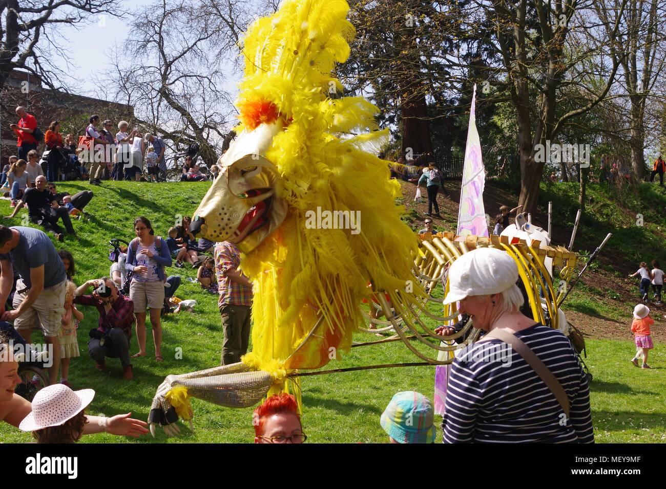 Golden Lion Puppet in Rougemont Garden  ramm's Carnival of
