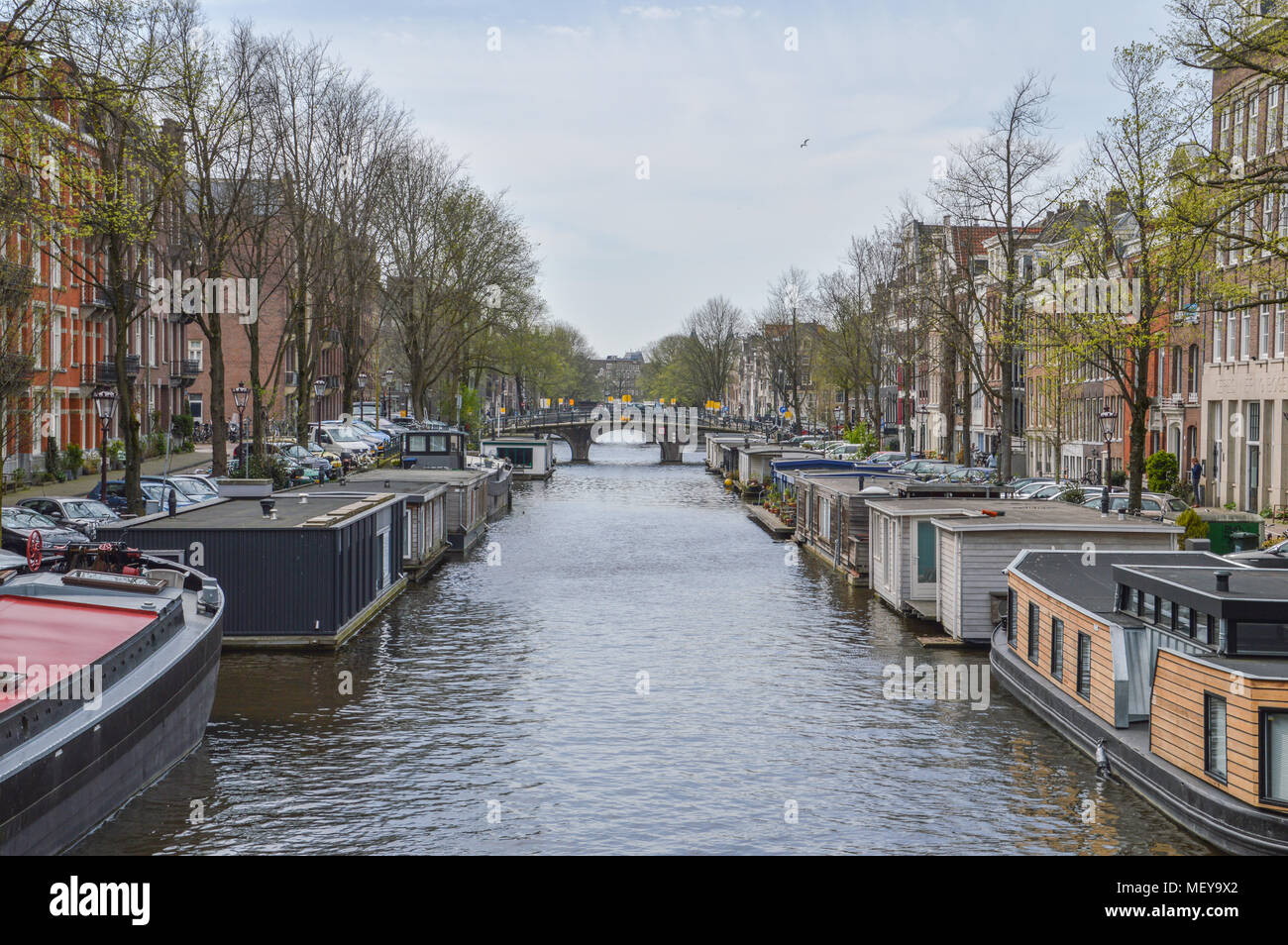 Nieuwe Prinsengracht At Amsterdam The Netherlands - Stock Image