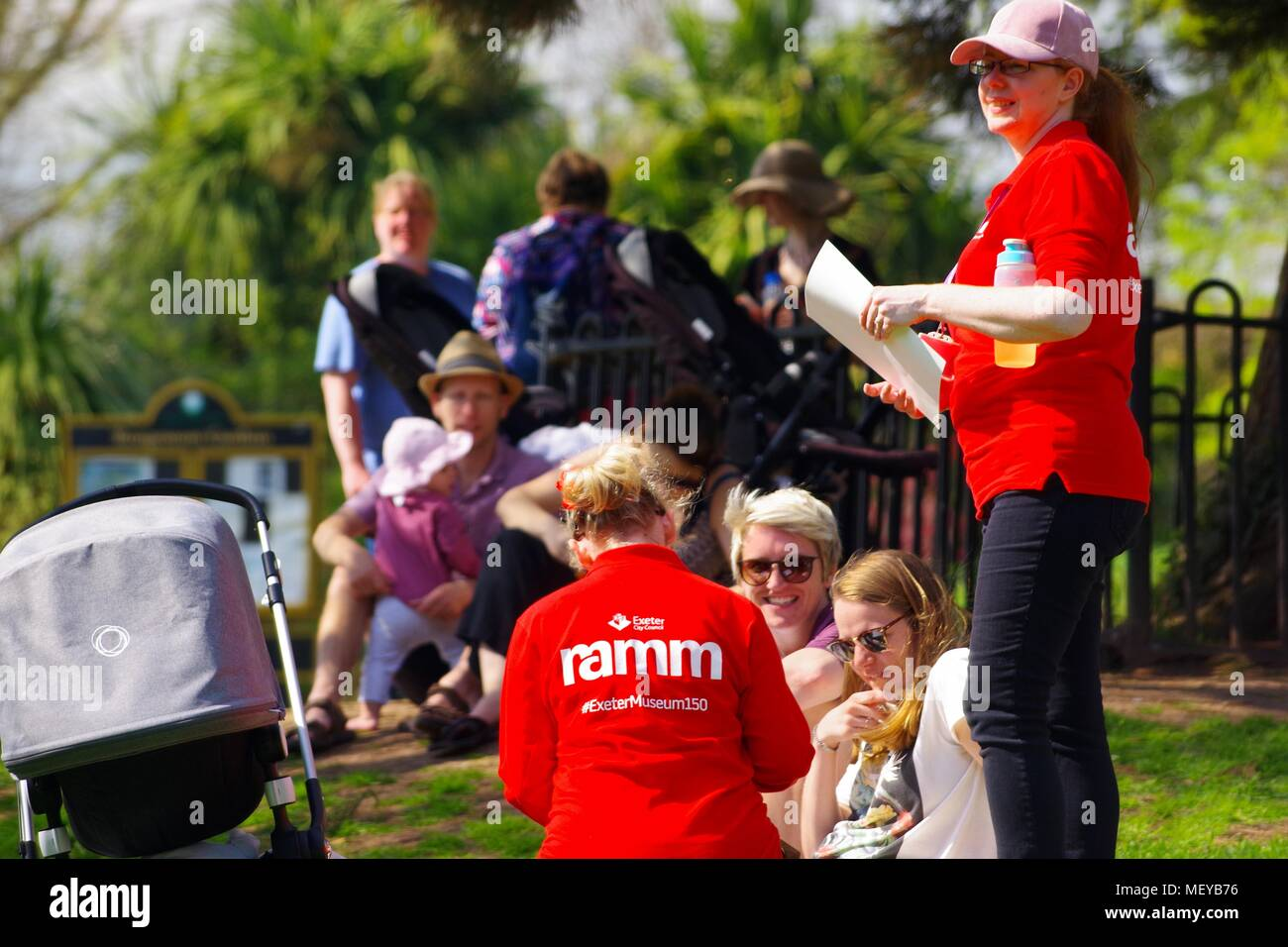 ramm Staff Organisers in Rougemont Gardens with Families Attending the Carnival of the Animals Anniversary. - Stock Image