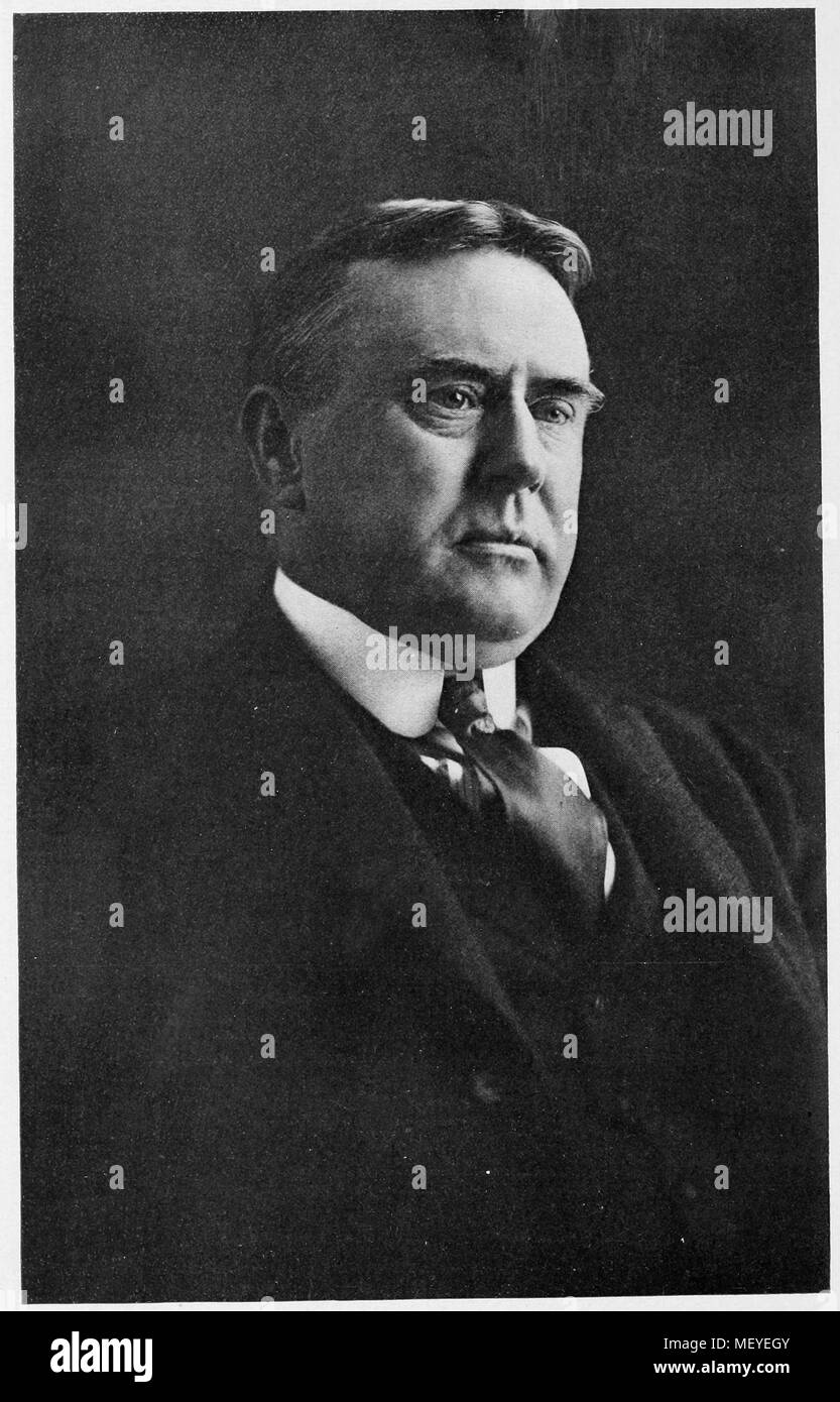 Headshot portrait of George Latimer Potter, vice president of the Baltimore and Ohio Railroad company, 1910. Courtesy Internet Archive. () - Stock Image
