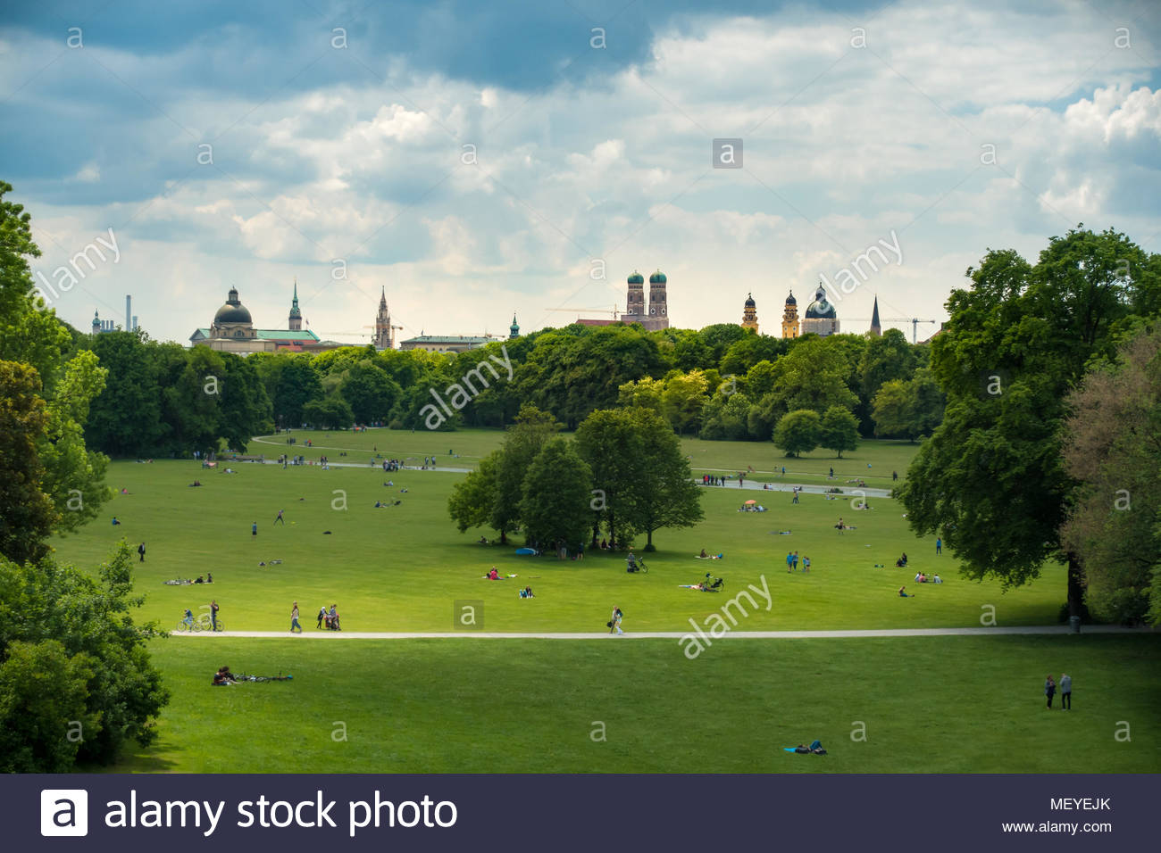 Englischer Garten in Munich Bavaria Germany - Stock Image