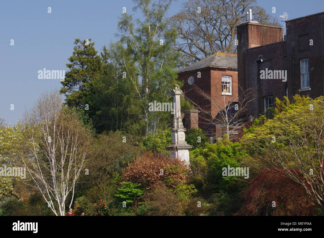 Rougemont Castle Northernhay Gardens Stock Photos & Rougemont Castle ...