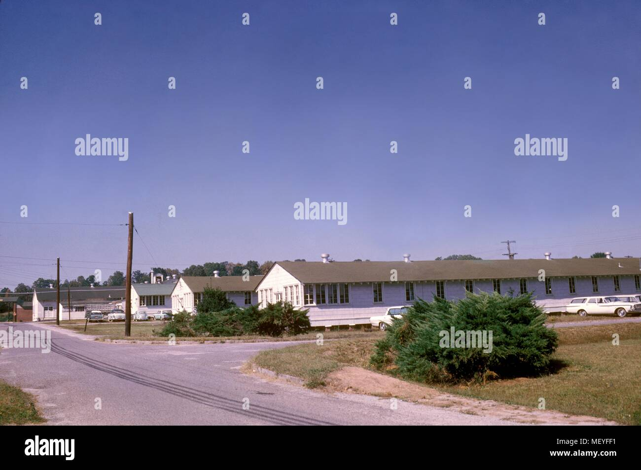 Street view of the Centers For Disease Control and Prevention (CDC) facilities, 1963. Image courtesy Centers for Disease Control. () - Stock Image